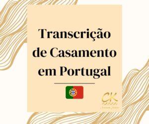 Transcrição de Casamento em Portugal