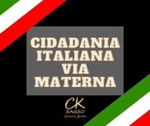 Cidadania italiana via materna