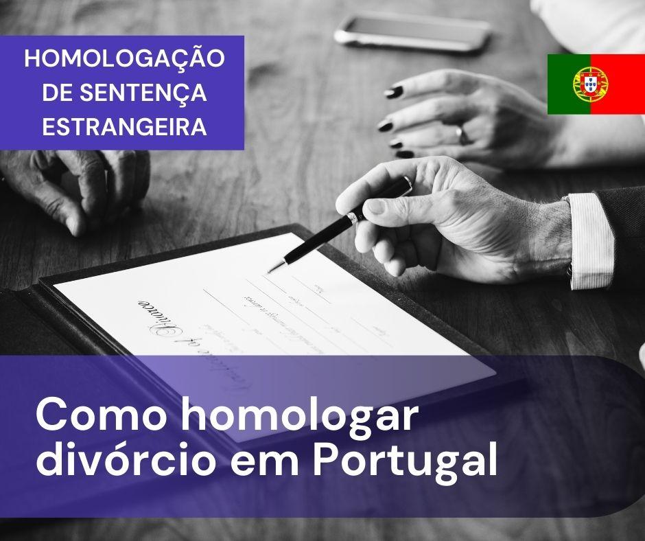 como homologar divórcio em Portugal