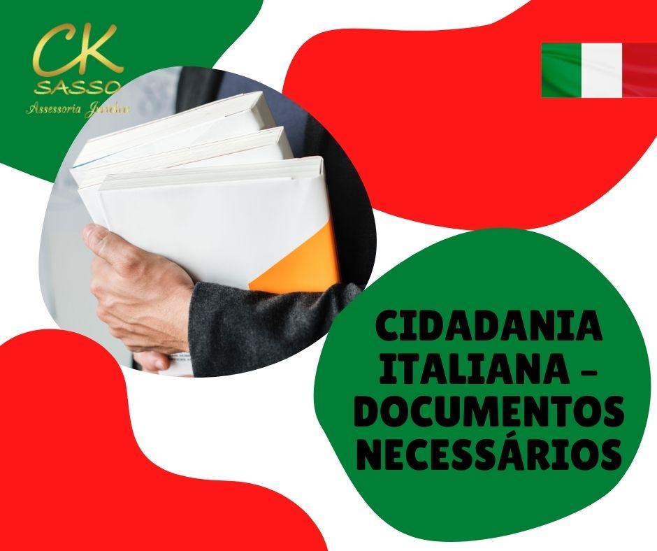 Cidadania italiana – documentos necessários
