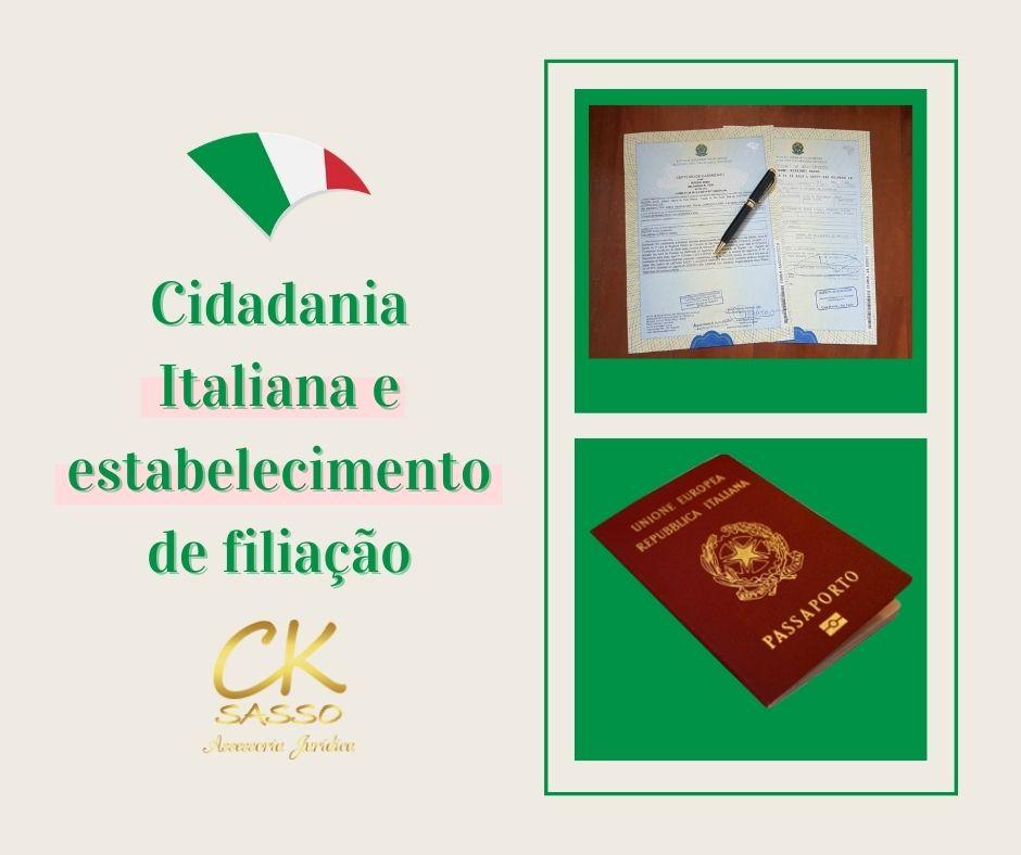 Cidadania Italiana e estabelecimento de filiação