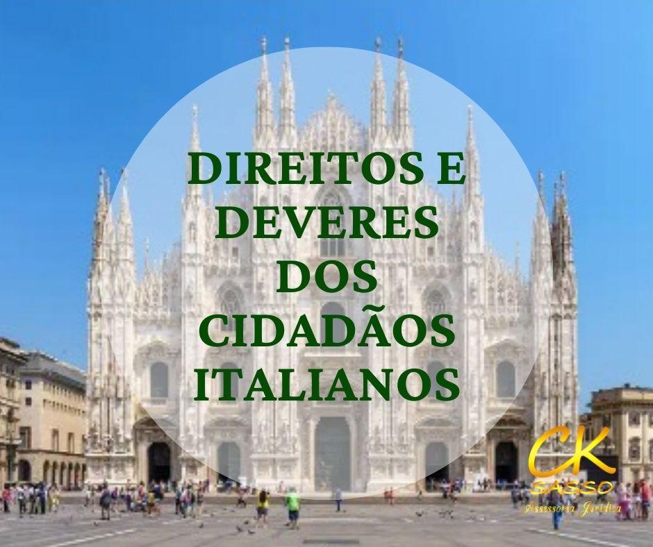 Direitos e deveres dos cidadãos italianos